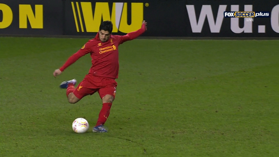 Luis Suárez's Free-Kick Goal To Put Liverpool Up 3-1 Was Absolutely World Class
