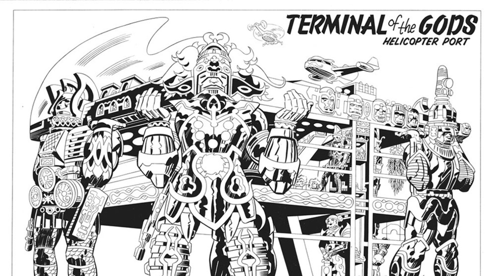 Lost Jack Kirby storyboards show the insane world that could have been <em>Argo</em>