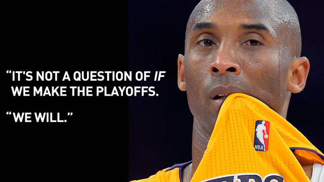 Kobe Bryant Guarantees The Lakers Will Make The Playoffs