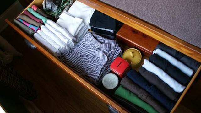 Fill Dresser Drawers from Front to Back Instead of Top to Bottom