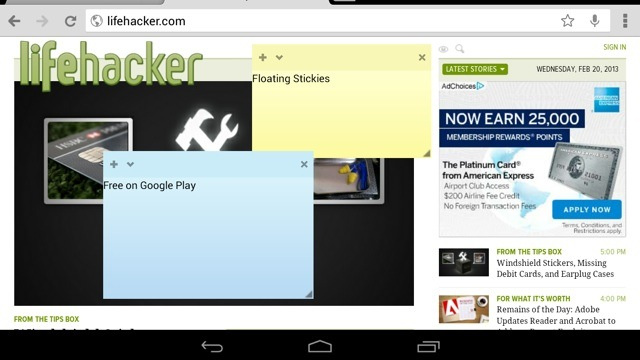 Floating Stickies Puts Sticky Notes on Your Android Device