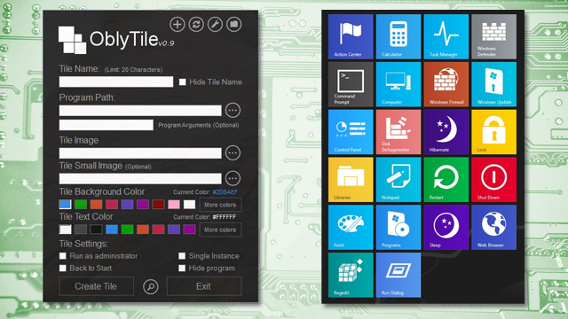 OblyTile Creates Fully-Customized Windows 8 Tiles