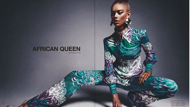 16-Year-Old White Girl Poses in 'African Queen' Editorial