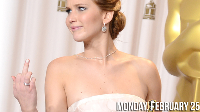 Click here to read Jennifer Lawrence Flips Off the Press Room and More Gossip from the Oscars