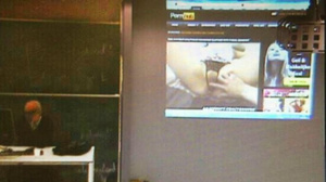 Professor Accidentally Leaves Projector On While Watching Porn During Class (NSFW)
