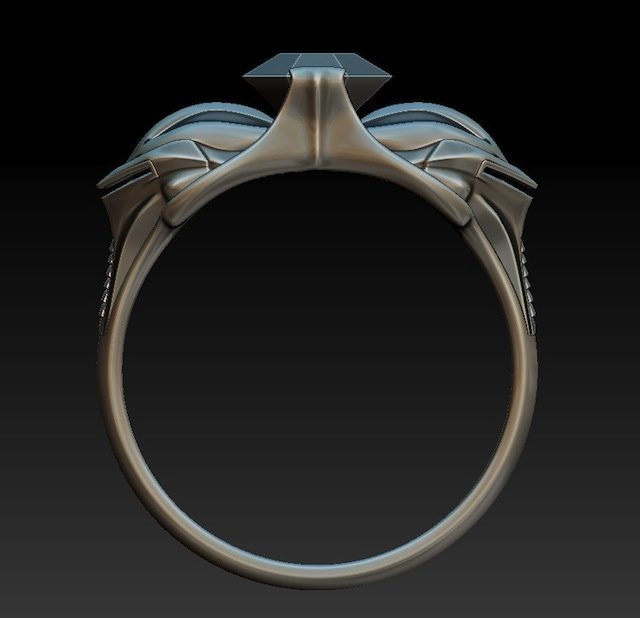 This Cylon engagement ring is frakking amazing