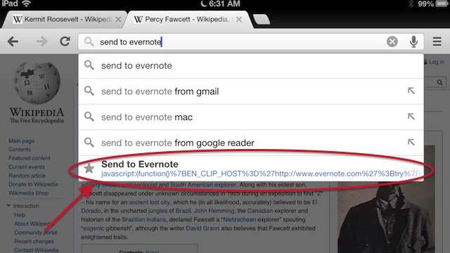 Use Bookmarklets to Easily Send Web Pages to Pocket, Evernote, Readability, and More in Mobile Chrome