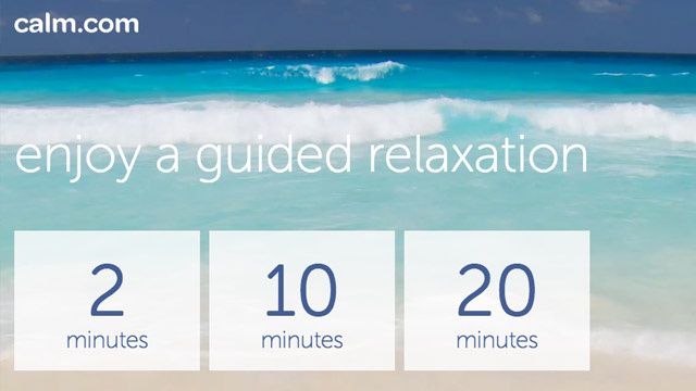 Calm.com Trains You to Meditate in Two to Twenty Minute Sessions