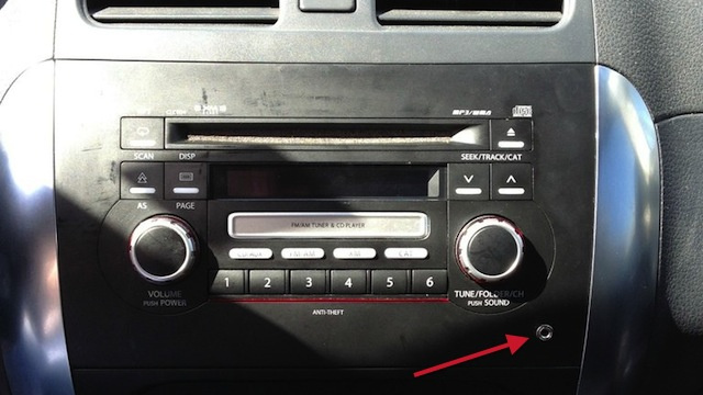 Car stereo with aux port