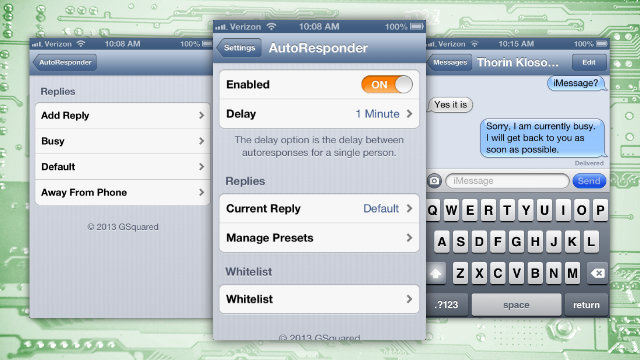 AutoResponder for iOS Replies to Messages When You're Busy, Is 50% Off Right Now