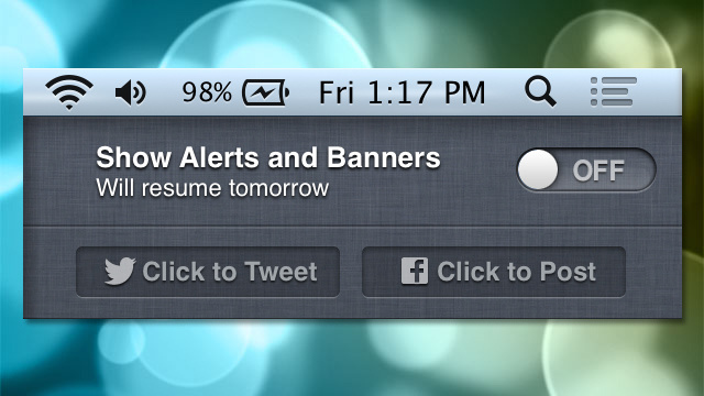 Roll Your Own Do Not Disturb Mode for OS X's Notification Center
