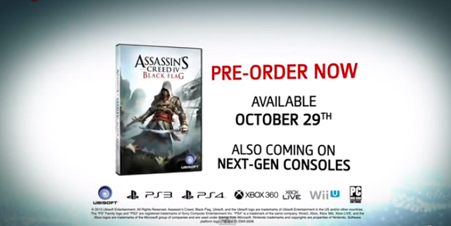 Assassin's Creed IV Is Out October 29, According To This Leaked Trailer [UPDATE: Trailer Removed]