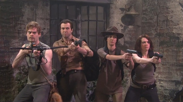 SNL's Walking Dead sketch lampoons the racial politics of the zombie apocalypse