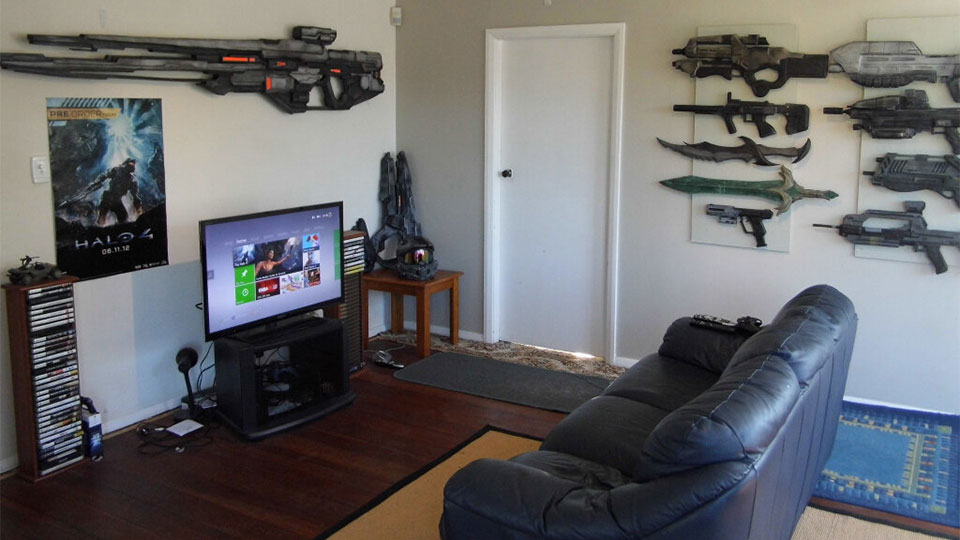 No shame in being afraid of a gaming room full of space Cool gaming room designs