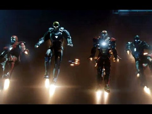 Tony Stark has some new armored friends in the unbelievably awesome Iron Man 3 trailer