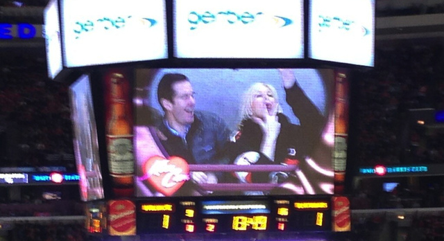Chicago's Kiss Cam Is Almost As Hot As The Blackhawks