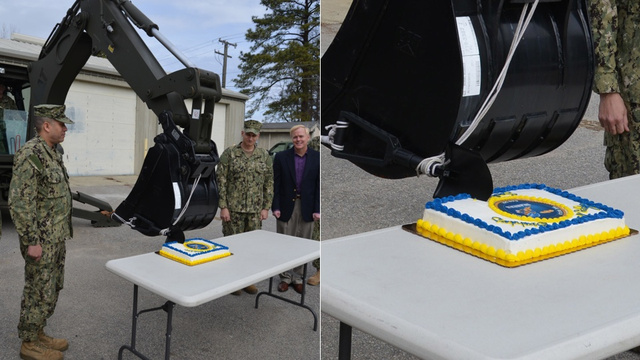 This Is How the Navy Cuts a Birthday Cake