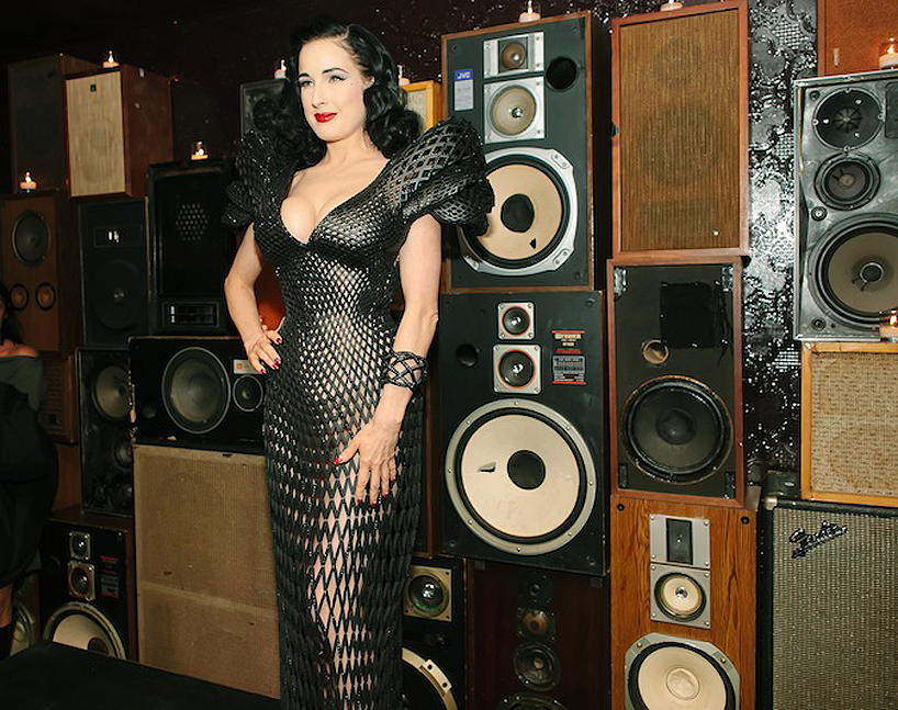Dita Von Teese Flaunts The First 3D-Printed Dress You Could Actually Wear