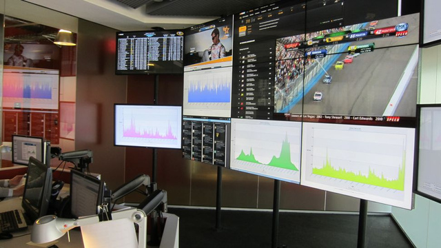 Click here to read Check out NASCAR HQ's Swanky Social Media Control Room (and Then Meet Us In Houston Tonight for Cars, Beers, and <em>Gizmodo</em> TV!)