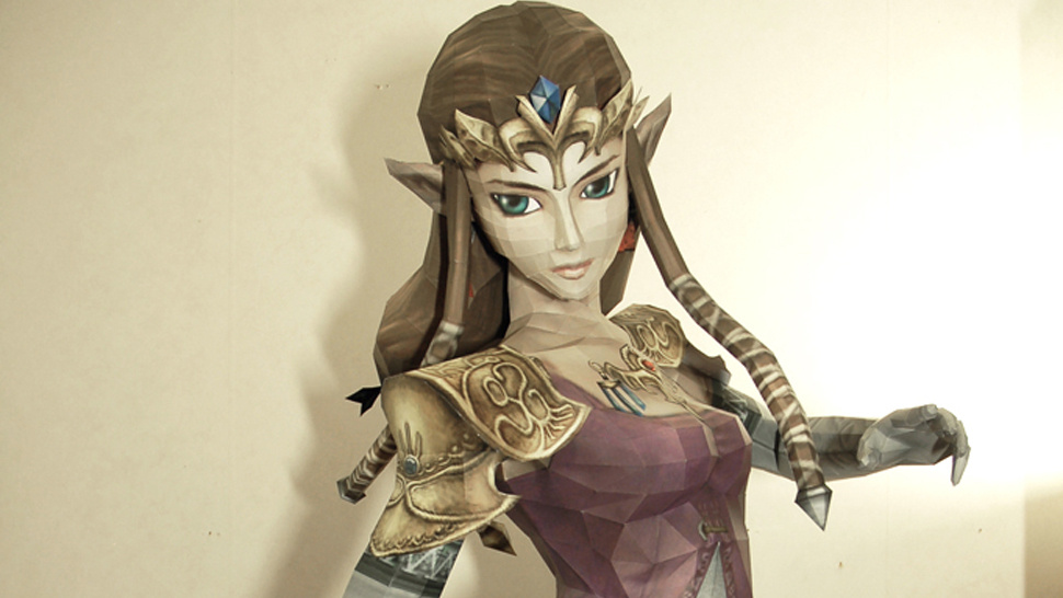 This Stunning Life-Sized <em>Princess Zelda</em> Statue Is Entirely Made Of Paper