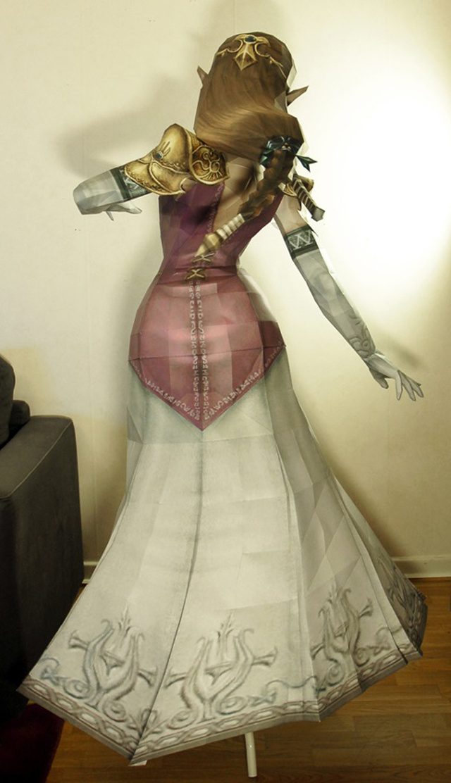 This Stunning Life-Sized Princess Zelda Statue Is Entirely Made Of Paper
