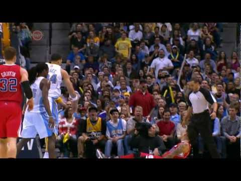 JaVale McGee Blocks Shot, Pretends To Sign Ball