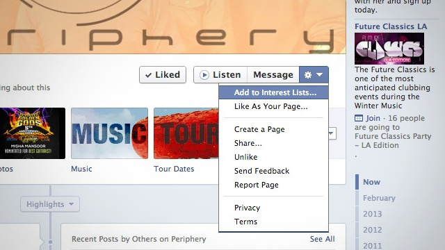 "Add Pages to Your Facebook ""Interest Lists"" Instead of Liking Them"