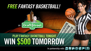 Play Fantasy Basketball Tonight For Free, Win $500
