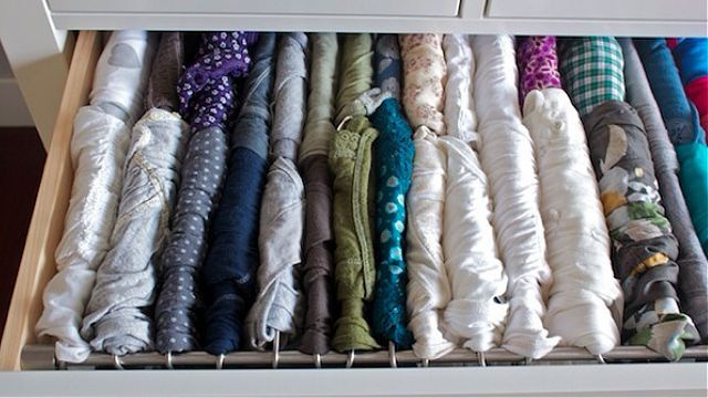 Hang Shirts in your Drawers with this Ingenious Hack