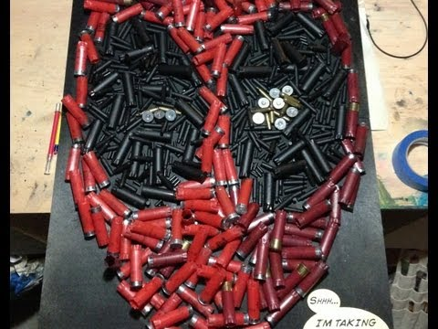 Click here to read Bullet casings and shotgun shells are the perfect media for Deadpool's portrait