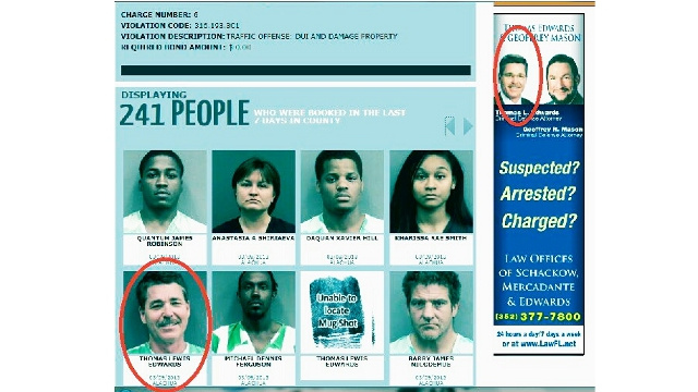 Criminal Defense Lawyer's Mug Shot Ends Up Next to Own Online Ad After Weekend Arrest