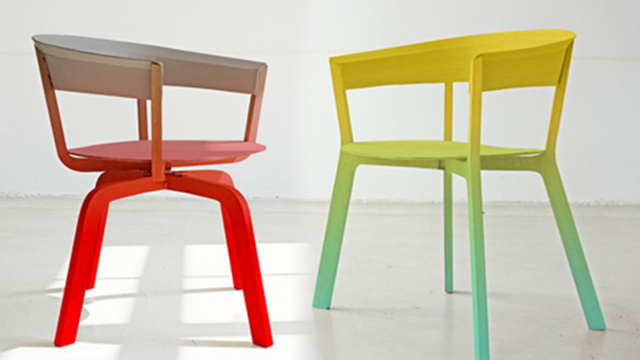 Click here to read Color-Fading Ombre Chairs: Little Rainbows of Comfort