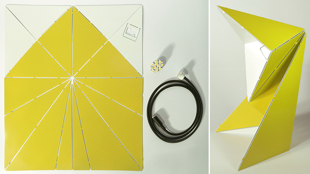 Click here to read If You Can Fold a Paper Airplane, You Can Assemble This LED Lamp
