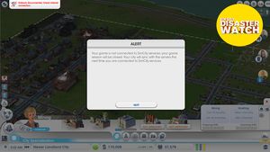 My SimCity City Thrived Offline For 19 Minutes