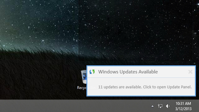 Windows Update Notifier Tells You When Windows 8 Has New Updates to Install