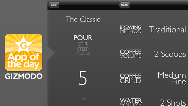 Click here to read Aeropress Timer: Control Your Coffee Brewing From Your iPhone