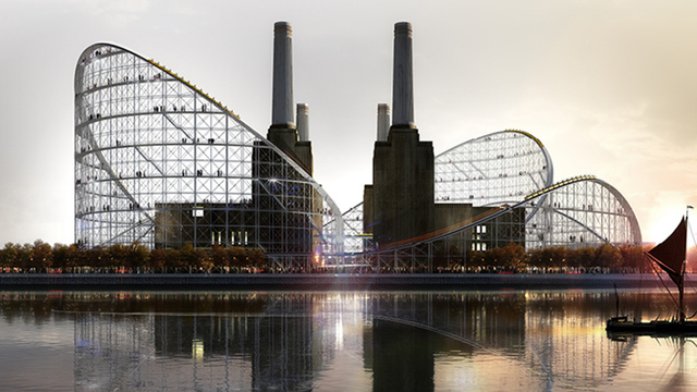 Click here to read An Abandoned London Power Station Could Find New Life As a Stunning Roller Coaster