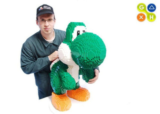 Giant LEGO Yoshi Is All Kinds Of Creepy