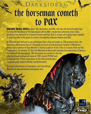 Ride Ruin at Darksiders' PAX Booth This Weekend