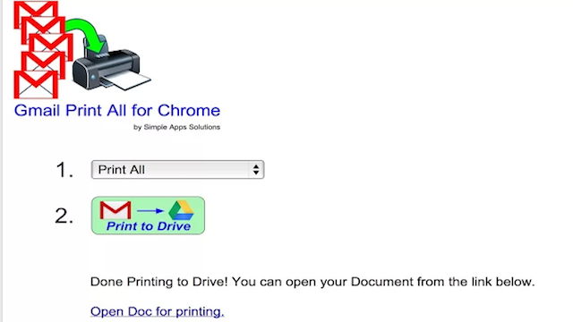 Gmail Print All for Chrome Exports Multiple Gmail Messages for Easy Printing and Filing