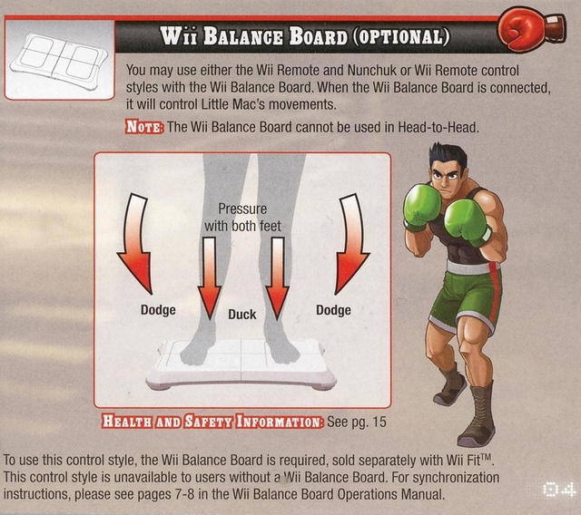 Punch-Out Balance Board Controls Work Like This