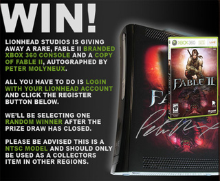 Win A Fable II 360 Signed By Peter Molyneux