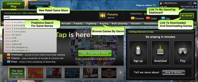GameTap Launches Redesigned Service