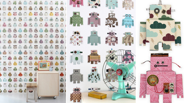 Cover Your Walls With an Adorable Reminder That One Day Robots Will Be Everywhere... EVERYWHERE