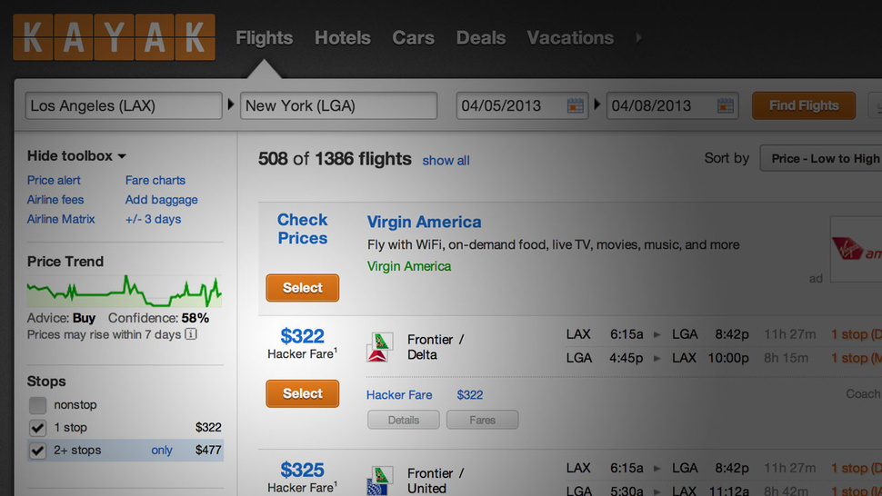 "Kayak Introduces ""Hacker Fares"" that Combine One Way Tickets on Different Airlines to Save You Money"