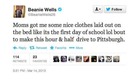 Beanie Wells had a physical earlier this week with the Steelers…