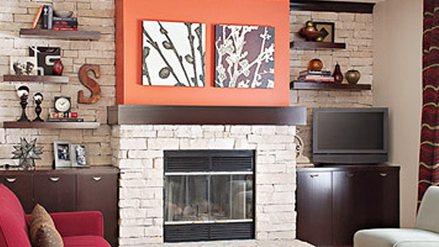 Click here to read DIY Fireplace Makeover with Stone Veneer