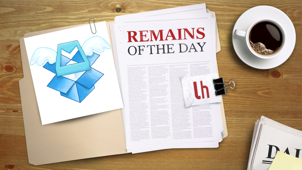 Remains of the Day: Dropbox Acquires the Mailbox Team