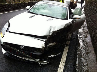 Is This The First Jaguar F-Type Crash?