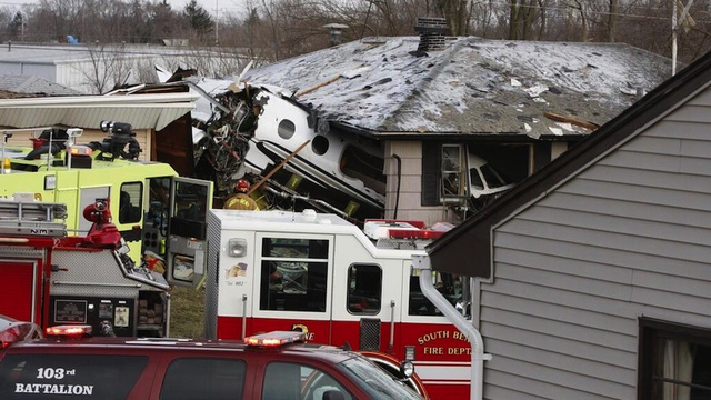 Two Dead After Private Jet Crashes Through Three Homes in Indiana Neighborhood
